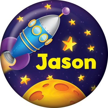 Space Personalized Mini Magnet (Each)