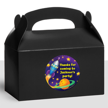 Space Personalized Treat Favor Boxes (12 Count)