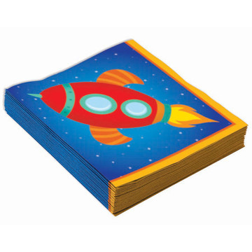 Space Rocket Beverage Napkins (16)