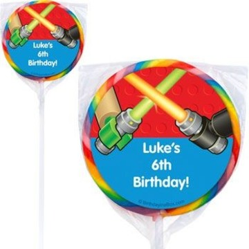 Space Toys Personalized Lollipops (pack of 12)