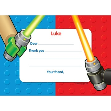 Space Toys Personalized Thank You Note (each)