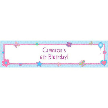 Sparkle Butterfly Personalized Banner (each)