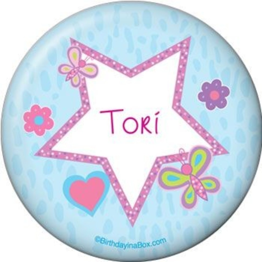 View larger image of Sparkle Butterfly Personalized Button (each)