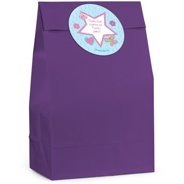 Sparkle Butterfly Personalized Favor Bag (Set Of 12)