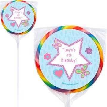 Sparkle Butterfly Personalized Lollipops (pack of 12)