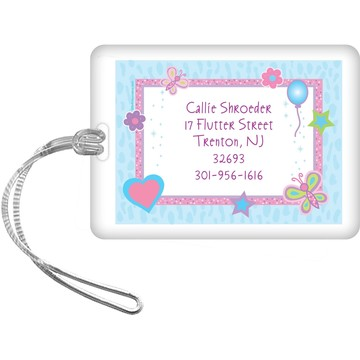 Sparkle Butterfly Personalized Luggage Tag (each)