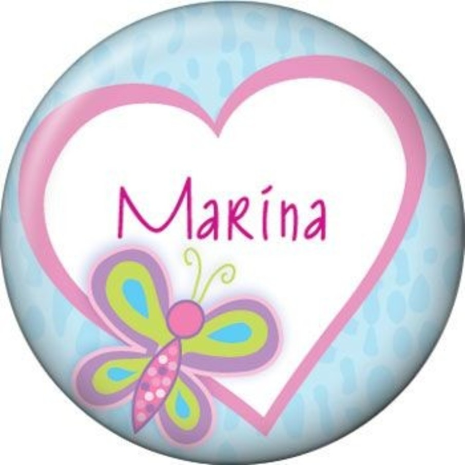View larger image of Sparkle Butterfly Personalized Mini Button (each)
