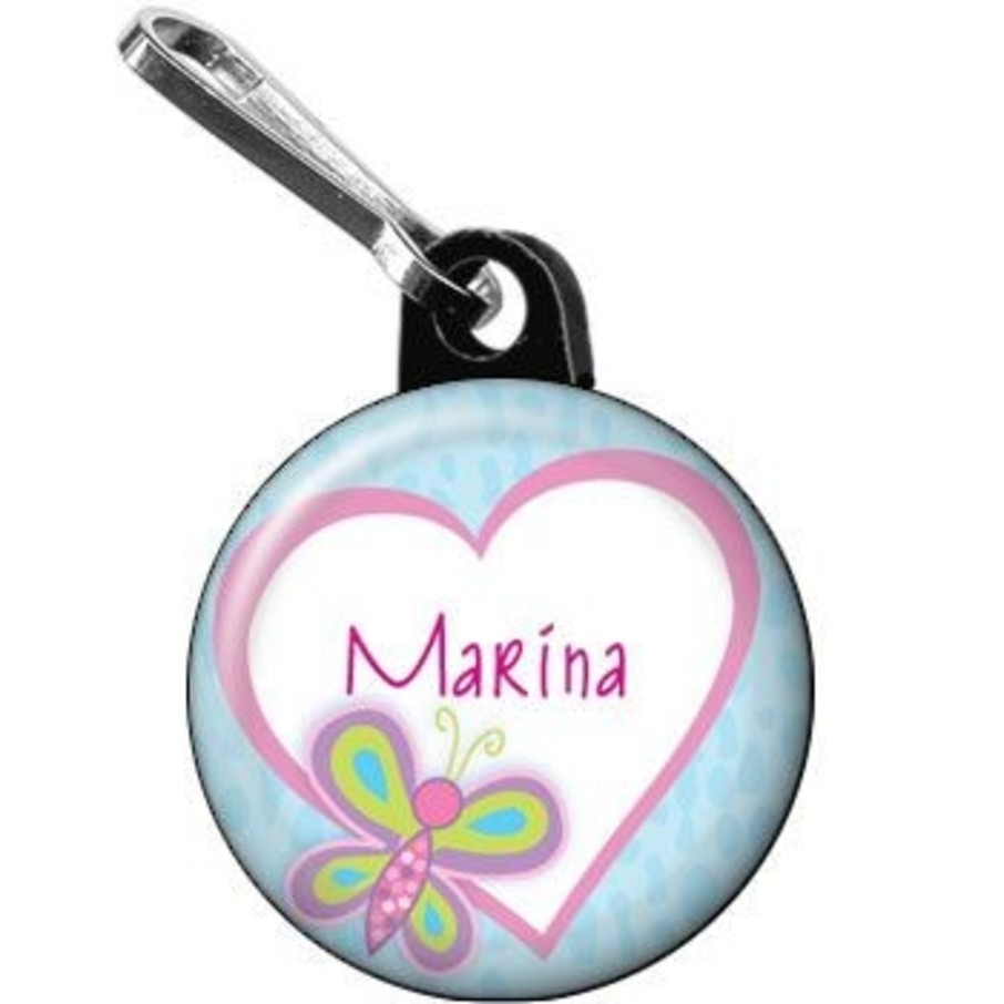 View larger image of Sparkle Butterfly Personalized Mini Zipper Pull (each)