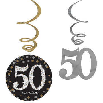 Sparkling Celebration 50th Birthday Swirl Decorations (12)