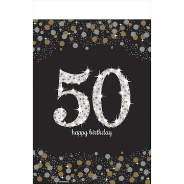 Sparkling Celebration 50th Birthday Table Cover (1)