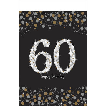 Sparkling Celebration 60th Birthday Table Cover (1)