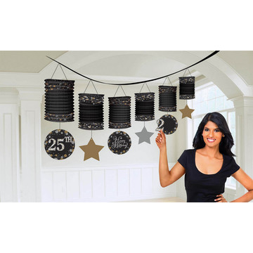 Sparkling Celebration Birthday Paper Lantern Garland Kit