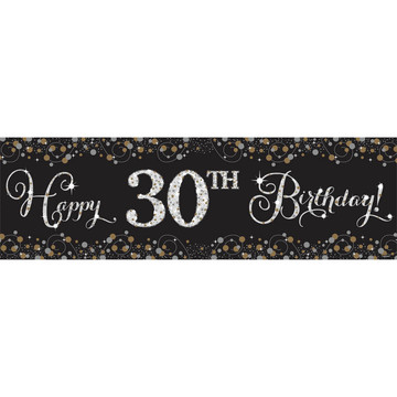 Sparkling Celebration Happy Birthday Banner Kit