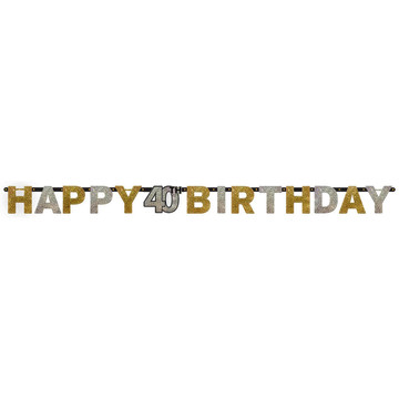 Sparkling Celebration Prismatic 40th Birthday Banner (1)