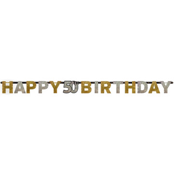 Sparkling Celebration Prismatic 50th Birthday Banner (1)