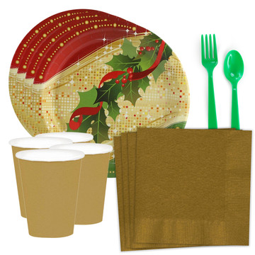 Sparkling Christmas Standard Tableware Kit (Serves 8)