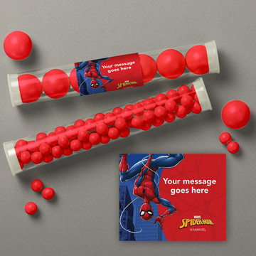 Spider-Man Personalized Candy Tubes (12 Count)