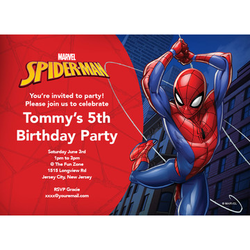 Spider-Man Personalized Invitation (Each)