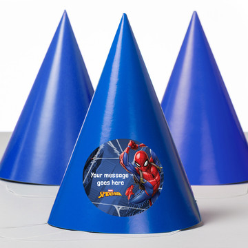 Spider-Man Personalized Party Hats (8 Count)
