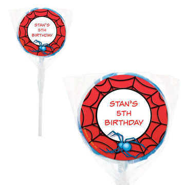 "Spider Personalized 2"" Lollipops (20 Pack)"