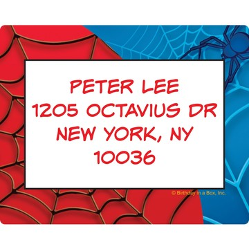 Spider Personalized Address Labels (Sheet of 15)