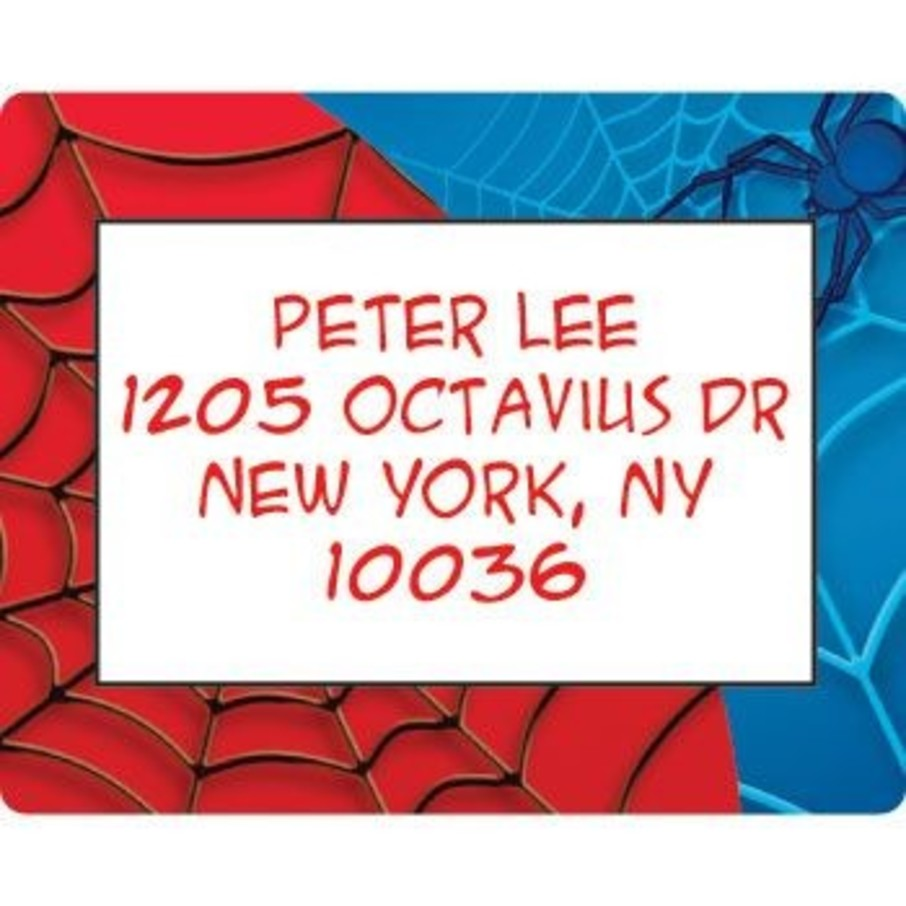 View larger image of Spider Personalized Address Labels (sheet of 15)
