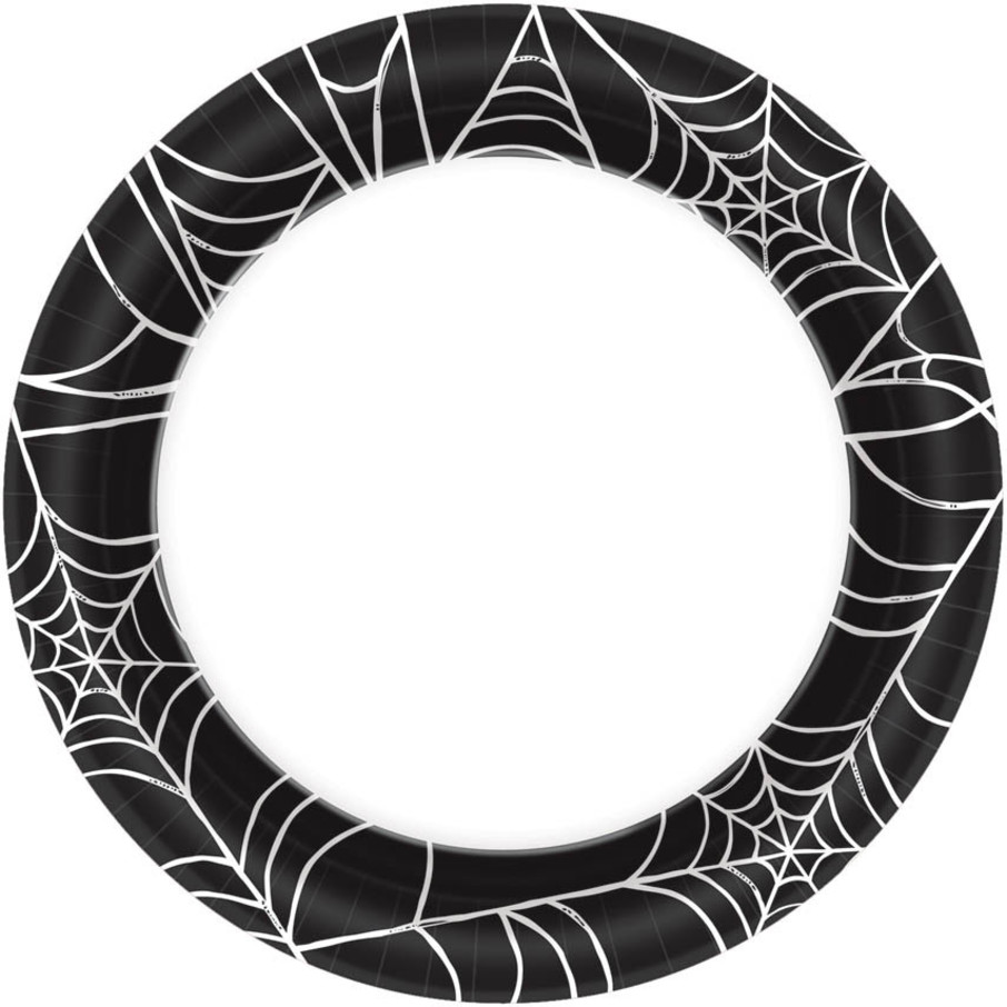 """View larger image of Spider Web 7"""" Cake Plates (40 Count)"""