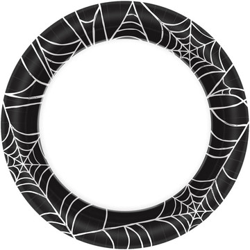 """Spider Web 7"""" Cake Plates (40 Count)"""