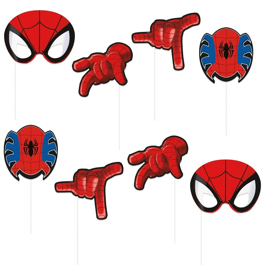 View larger image of Spiderman Photo Booth Props