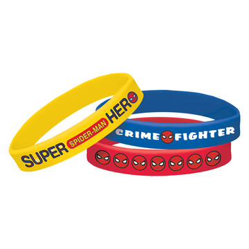 Spiderman Rubber Bracelet Favors (4 Pack)