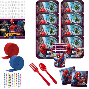 Spiderman Webbed Wonder Deluxe Tableware Kit (Serves 8)