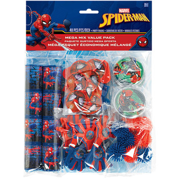 Spiderman Webbed Wonder Mega Mix Favor Pack (For 8 Guests)
