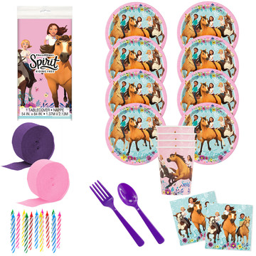 Spirit Riding Free Deluxe Tableware Kit (Serves 8)