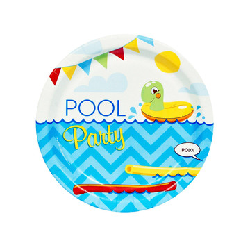 Splashin' Pool Party Dessert Plates