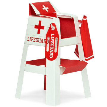 Splashin' Pool Party Lifeguard Chair Placecard Holder Tabletop Decorations