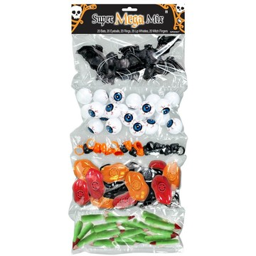 Spooky Halloween Plastic Favors (100 Pack)