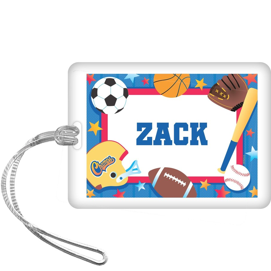 View larger image of Sports Birthday Personalized Bag Tag (each)