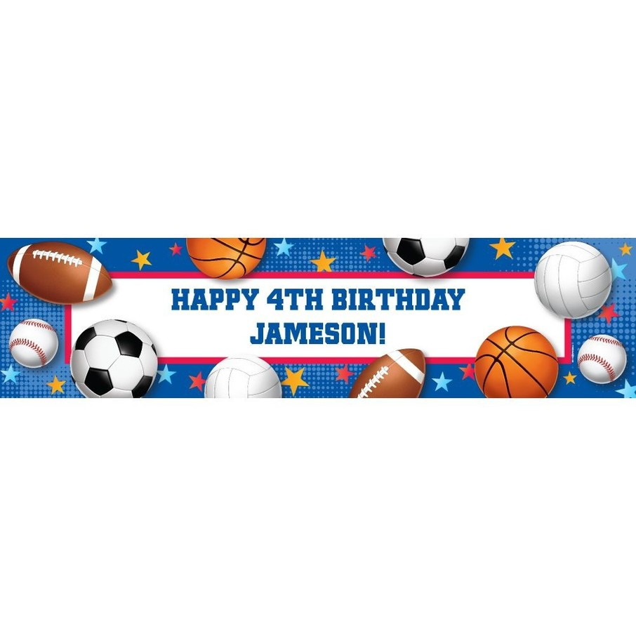 View larger image of Sports Birthday Personalized Banner (Each)