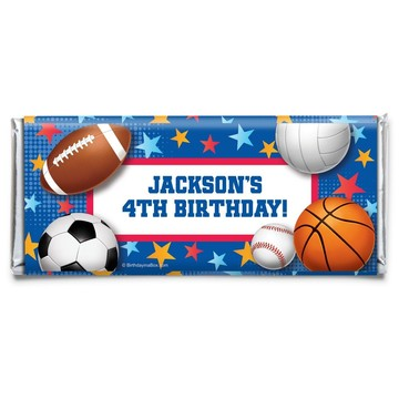 Sports Birthday Personalized Candy Bar Wrapper (Each)