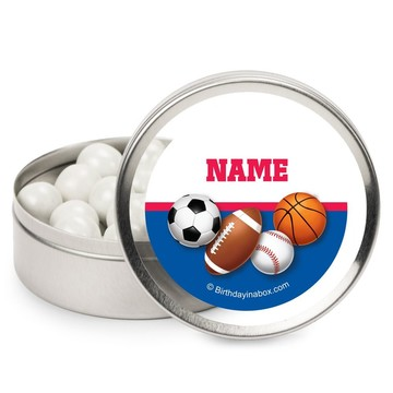 Sports Birthday Personalized Candy Tins (12 Pack)