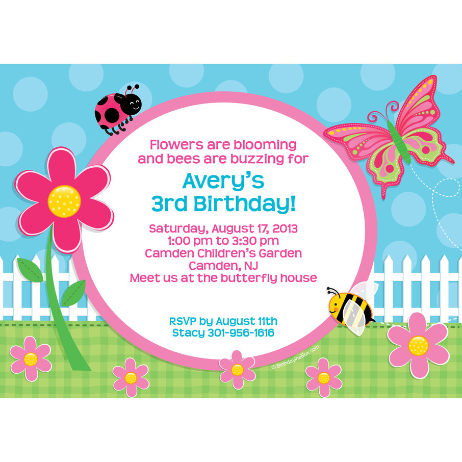 View larger image of Garden Party Personalized Invitation (Each)