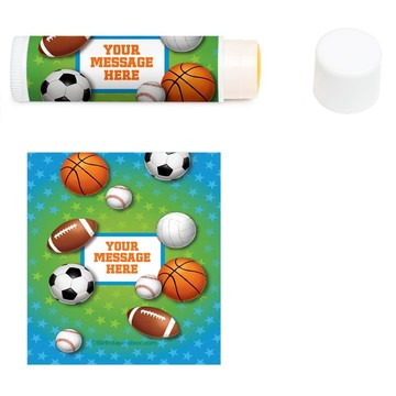Sports Birthday Personalized Lip Balm (12 Pack)