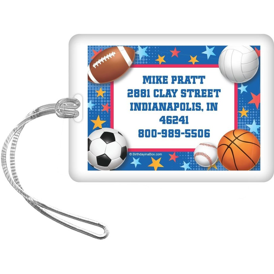 View larger image of Sports Birthday Personalized Luggage Tag (each)