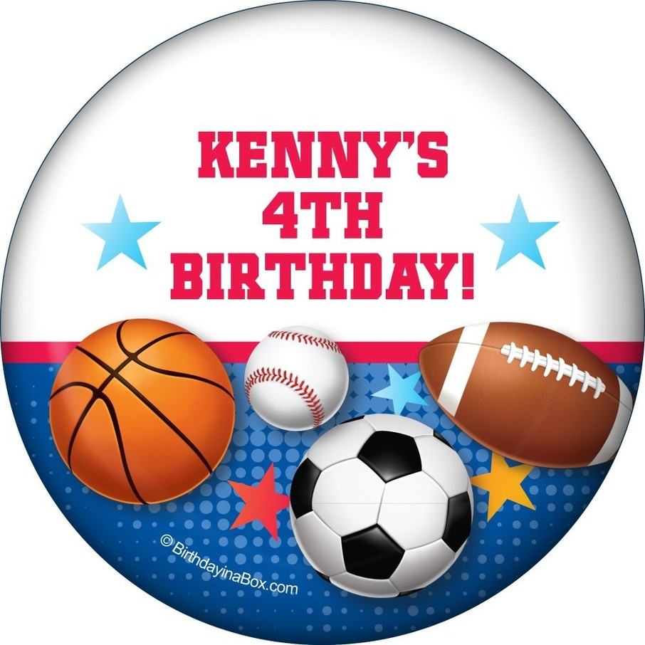 View larger image of Sports Birthday Personalized Magnet (each)