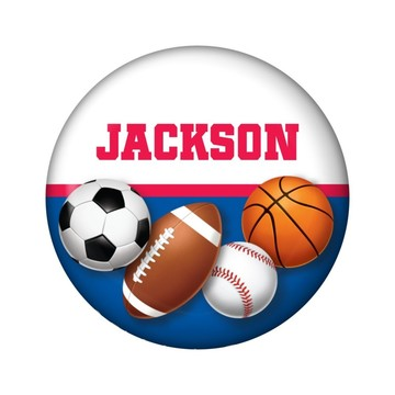 Sports Birthday Personalized Mini Magnet (each)