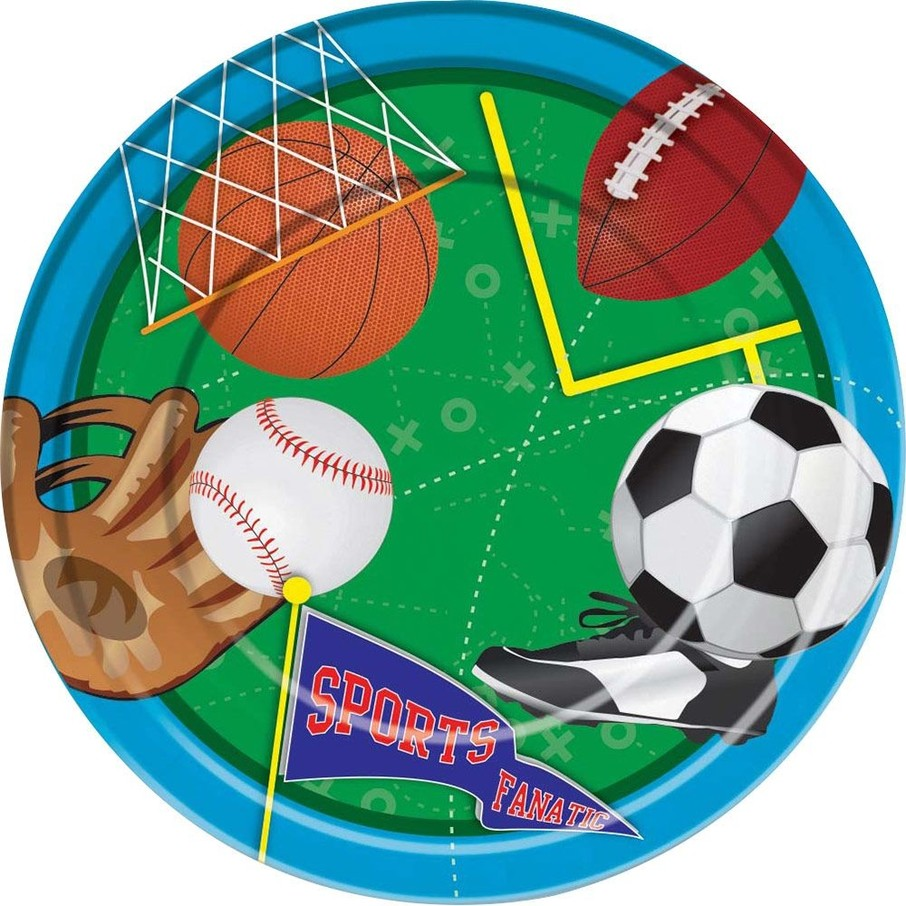 "View larger image of Sports Party 9"" Luncheon Plates (8 Pack)"