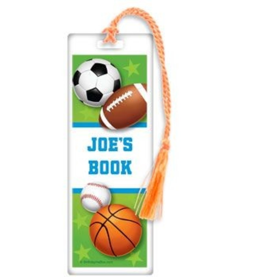 View larger image of Sports Party Personalized Bookmark (each)