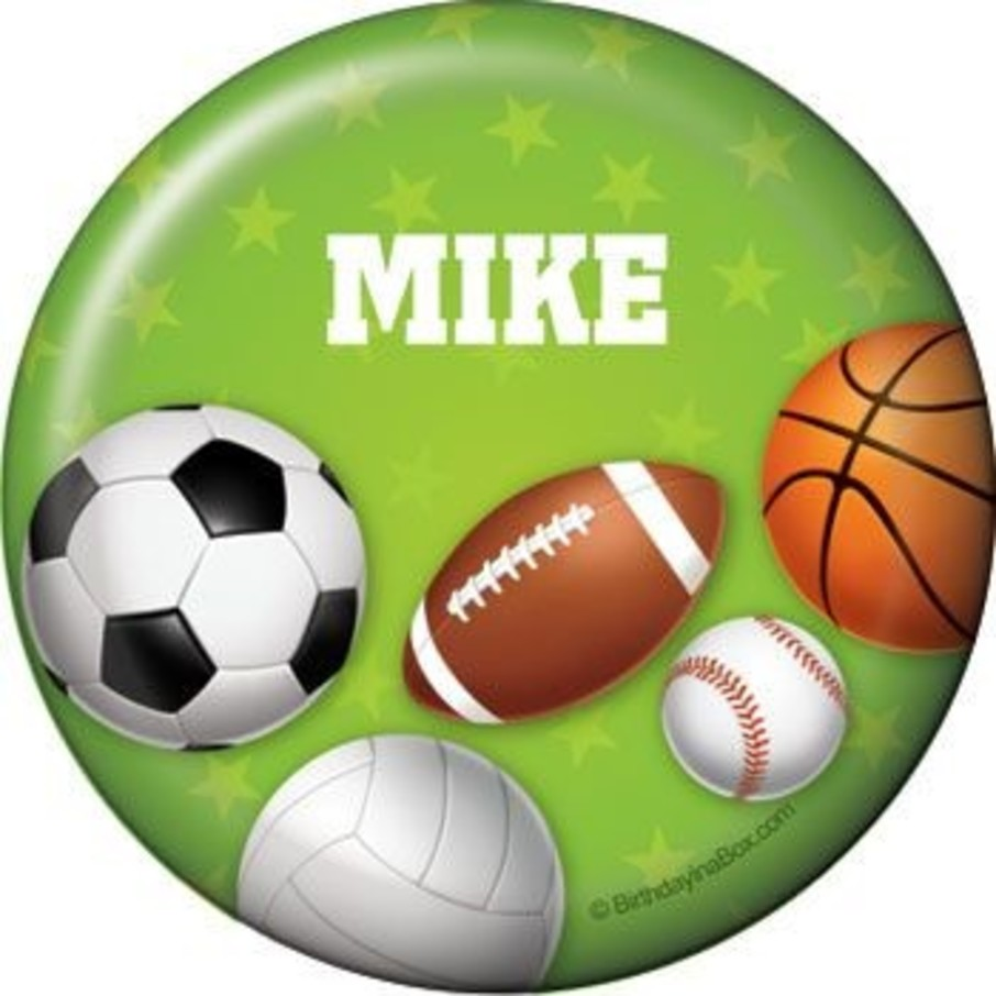 View larger image of Sports Party Personalized Button (each)
