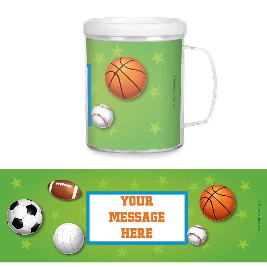 View larger image of Sports Party Personalized Favor Mugs (Each)
