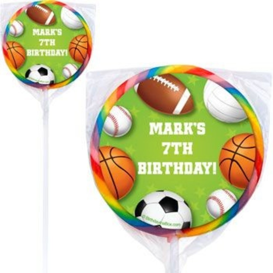 View larger image of Sports Party Personalized Lollipops (pack of 12)